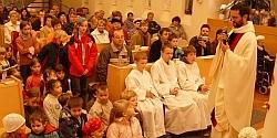 Kostel při bohoslužbě  / foto: IMA