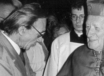 Josef Kemr a Kardinál Tomášek, Katedrála sv. Víta Praha, květen 1986, foto: -IMA-