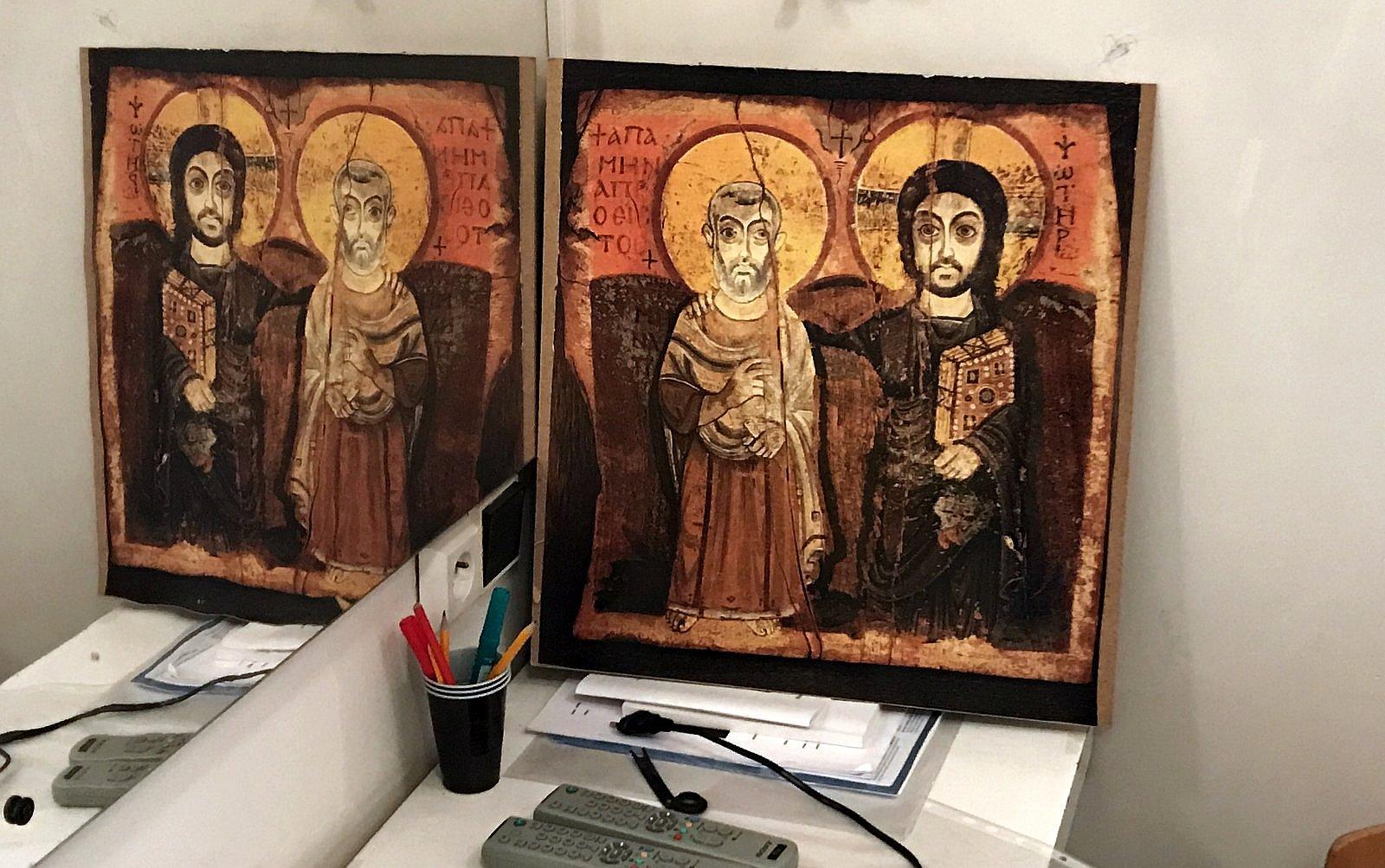 Dvojice, Ježíš, ikona, zrcadlo / -IMA